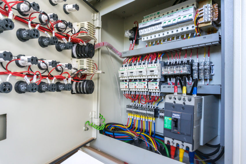 control panel with main breaker