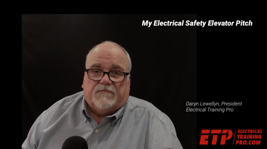 Electrical Safety Elevator Pitch